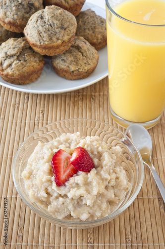 Banana Millet  Breakfast Pudding