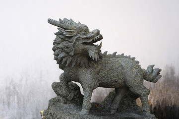 Stone sculprure of the Kirin