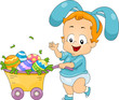 Baby Easter Egg Cart
