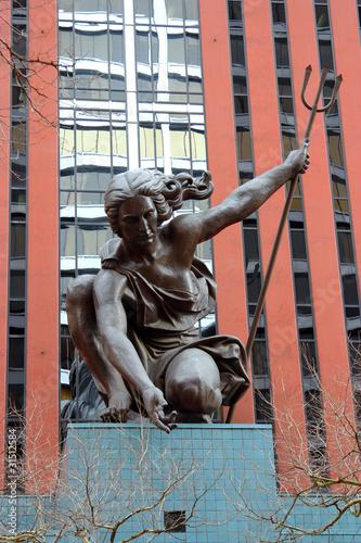 Statue Portlandia in Portland OR.