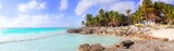 Caribbean Tulum Mexico tropical panoramic beach