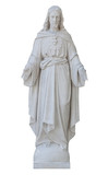 Marble statue of Jesus Christ isolated on white with clipping