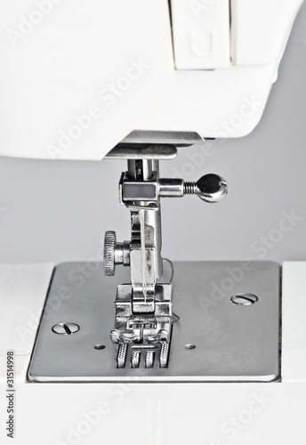 Detail of a sewing machine