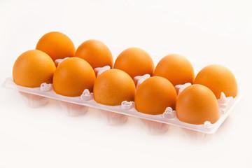 Eggs in the plastic box