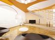 Modern Wohnzimmer Interior 3d render