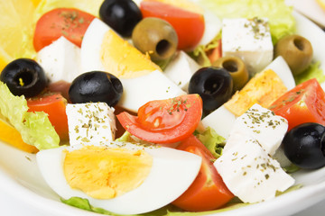 Egg and cheese salad