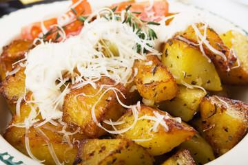 Spicy roasted potato