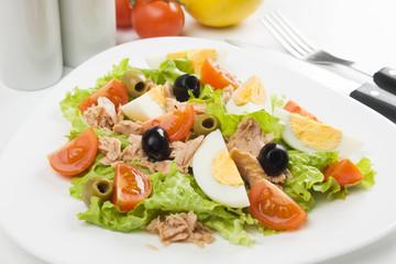Egg salad with tuna meat