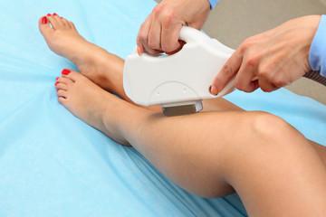 Legs laser hair removal