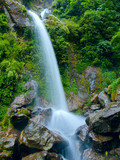 Beatiful waterfall the seven sisters in Sikkim, India