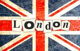 DRAPEAU ANGLAIS LONDON