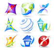 Collection of colour icons
