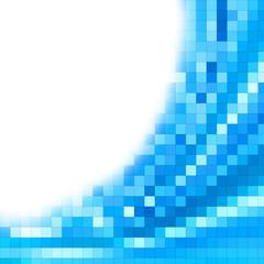 Pixel blue background