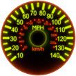 Illustration of a speedometer.
