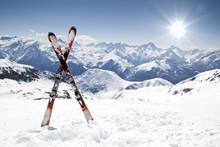 Paire de skis croisés
