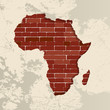 Africa wall map