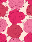 Beautiful roses seamless pattern