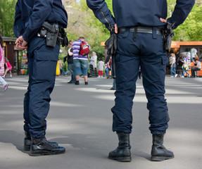 Gendarmes en station