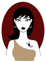 Horoscope and zodiac sign illustration