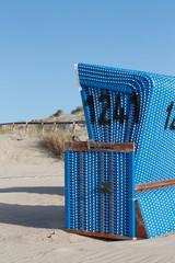 Blauer Strandkorb