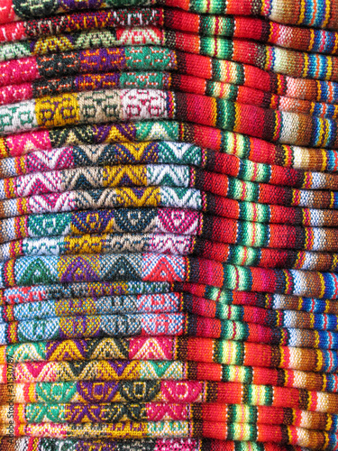 Sticker South America Indian woven fabrics
