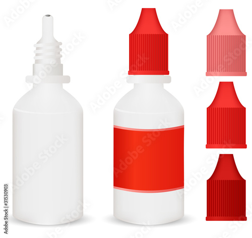 red medicine dropper bottle
