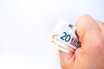 Euros en mano