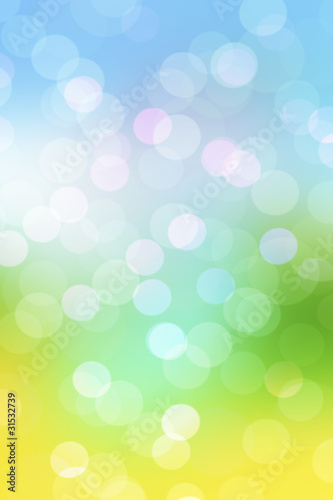 Abstract spring natural background with blur lights