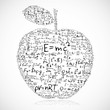 Illustration of education apple