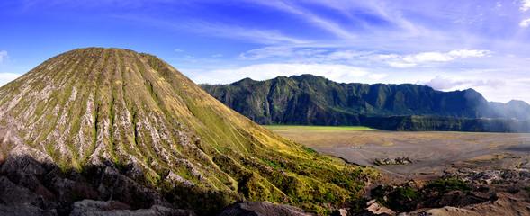 Beautiful panoramic of volcano