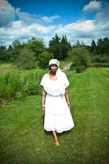 beautiful black woman in nature setting