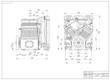 Drawing a piston compressor. Vector illustration