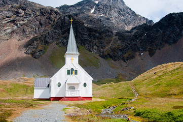 Historic Antarctic Church where Ernest Shackleton worshipped.