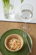 Coleslaw Salad with Water Glass