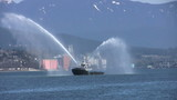 Tug Boat Spraying Water