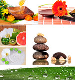 Foto Collage Wellness Steine