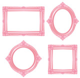 Fototapety pink frame
