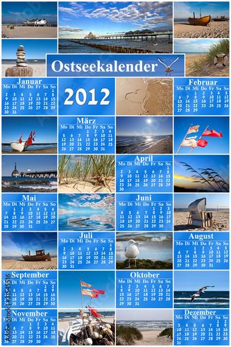 Leinwandbild Motiv Kalender 2012 Ostsee Edition