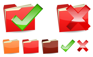 right and wrong red folder