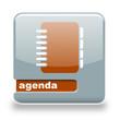 Button Spare Agenda grau orange