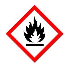 GHS Symbol Flammable liquids sign