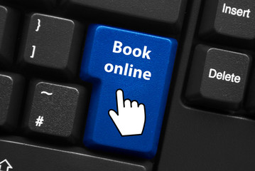 BOOK ONLINE Key on Keyboard (e-booking order now go web button)