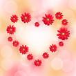 Coeur en gerberas rouges