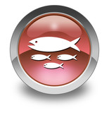 "Red Glossy Pictogram ""Fish Hatchery"""