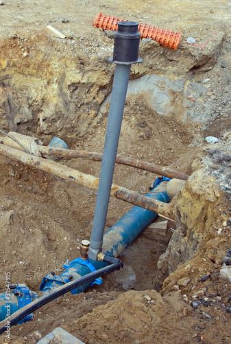 remplacement réseau d'eau potable: conduites sous terre