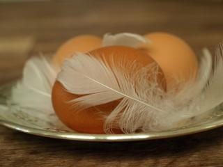 Wielkanocna jaja i pióra
