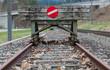 Leinwandbild Motiv wooden buffer stop concept