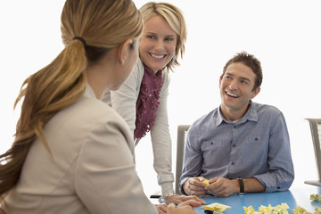 Business people working together in conference room