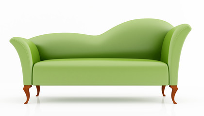 green fashion couch