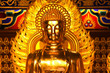 Golden Buddha with fire ray